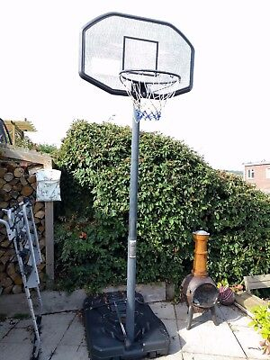 Basket Ball Hoop - net and backboard with stand - Collect Only