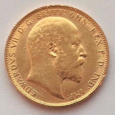 1904 Great Britain Gold Sovereign  Edward Vii St. George Coin
