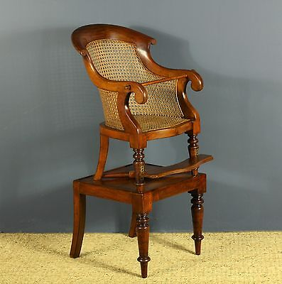 Lovely William Iv Mahogany Childs Chair On Table