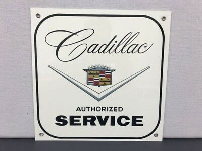 "Vintage Rare Cadillac Reproduction Garage Sign. 12x12"". With Holes And Grommets"
