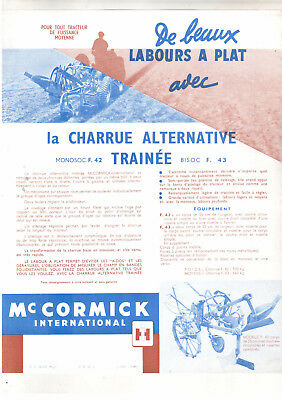 ORIGINAL McCORMICK INTERNATIONAL F. 42 AND F.  43 PLOUGH BROCHURE
