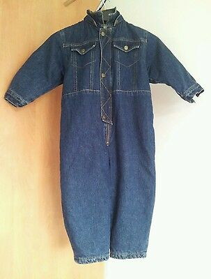 Vintage denim snow suit all in one coat from Trader age 2-3 yrs padded jeans