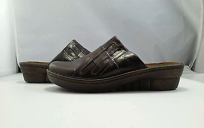 Naot Women's Leap Oak Leather Clogs Size US 6 M ...