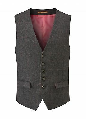 SKOPES Heritage Collection Mens Smart Casual Waistcoat (Swilken) in Charcoal