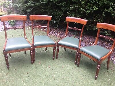 4 Beautiful Regency Chairs Almost 200 Yrs Old
