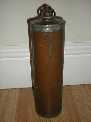 Antique Victorian Era  Brass Hot/cold Water Bottle/canister Possibly Military It