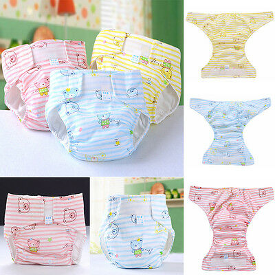 Baby Infant Reusable Washable Clothes Diaper Kids Nappy Cover Adjustable Diapers