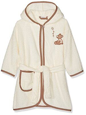 Beige 74 PLAYSHOES KINDER FROTTEE-BADEMANTEL BÄR MIT KAPUZE ACCAPPATOIO BAMBINA