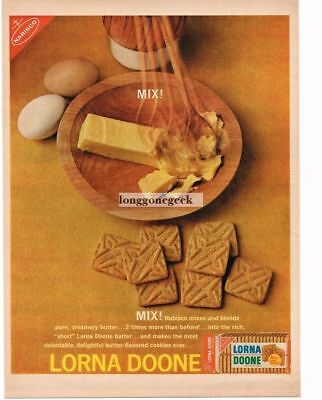 1962 Nabisco Lorna Doone Cookies Melted Butter Vtg Print Ad