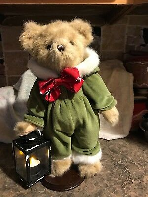 New Bearington Bear Girl In Jumpsuit With Lantern Light Accent So Cute Unique