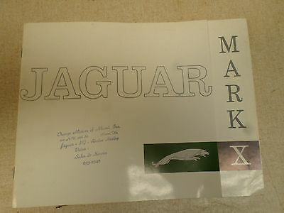 1962 1963 Jaguar Mark X Brochure Orange Motors of Miami