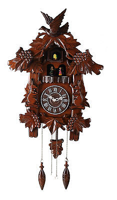 Deluxe 17-inch Birds and Rabbits Cuckoo Clock, with Turning Dancers  C00158