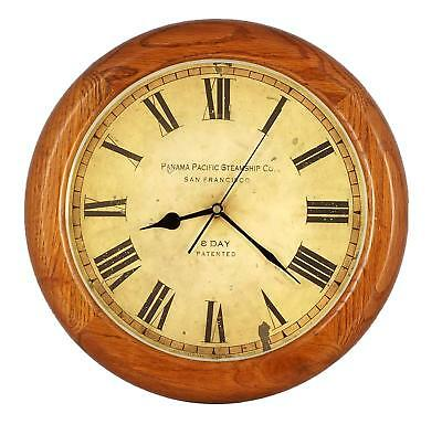 "14"" Vintage OAK Solid Wood Silent Non-ticking Wall Clock, Home Decor - WW0123"