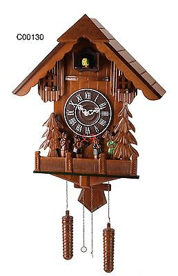 "Deluxe 16"" Pine and Crowd Cuckoo Clock, Home Decor Quartz Timepieces - C00130"