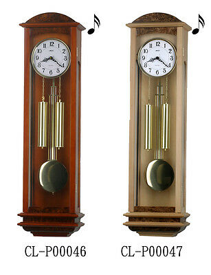 "39"" Tall Deluxe Solid Wood Cherry Pendulum Clock Westminster 4*4 Chime"