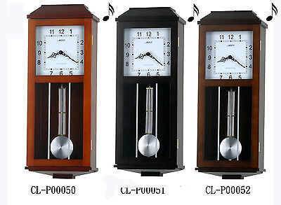 "24"" Tall Contemporary Solid Wood Cherry Pendulum Clock Westminster 4*4 Chime-P50"