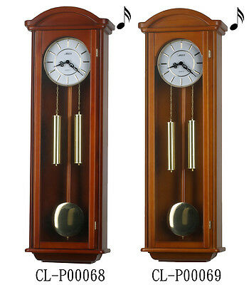 "40"" Tall Deluxe Solid Wood Cherry Pendulum Clock Westminster 4*4 Chime"
