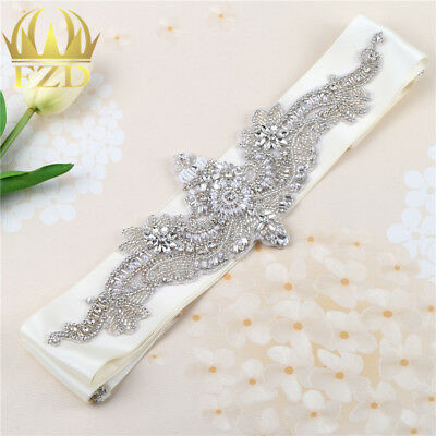 Beaded Crystal Rhinestone Belt Sash Wedding Dress Bridal Accessories