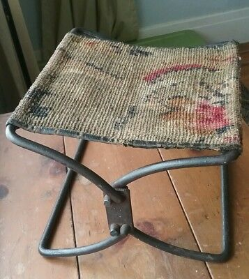 Antique Iron Folding Foot stool Buggy