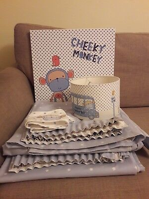 Next cheeky monkey bundle; curtains, picture, light shade