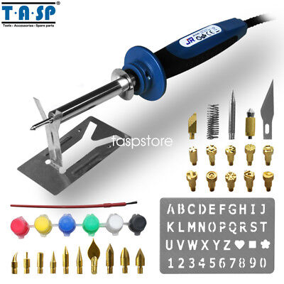TASP 40W Wood Burning Pen Electric Soldering Iron Set with 34 Tips Accessories