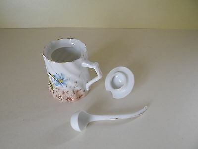 Vintage Small Hand Painted Lidded Pot with Miniature Ladle (69,75)
