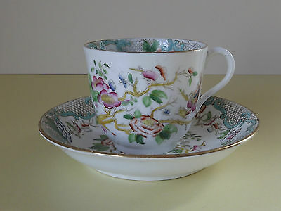 Vintage Hand Painted Floral Cup & Saucer (L61,37)