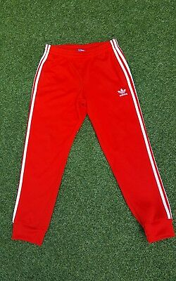 Adidas Joggers Size medium red Women's Sweat Pants Jogging Bottoms sport