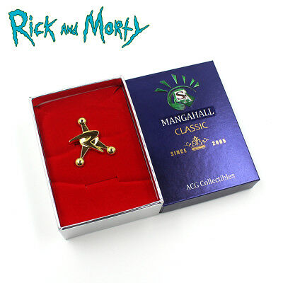 1Pcs Rick and Morty Council of Ricks Metal Button Badge Pin Otaku Collection Box