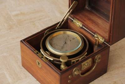 small Marine ship chronometer Widenham & Adams 1835 Royal NAVY
