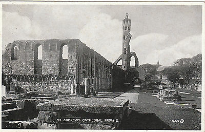 The Cathedral From East, ST. ANDREWS, Fife