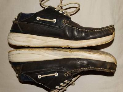 visvim leather sneakers low brown navy shoes size 11 44