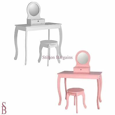 Mia 1 Drawer Dressing Table with Mirror & Stool - BNIB - Ashley Girl's Child