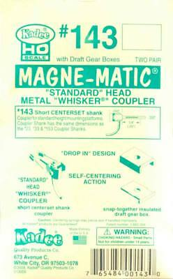 "NEW Kadee Magne-Matic Standard Head Metal Whisker Couplers 1/4"" (4) #143"