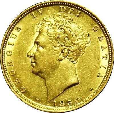 1830. George IV Sovereign. Good extremely fine. Marsh 15. Spink 3801