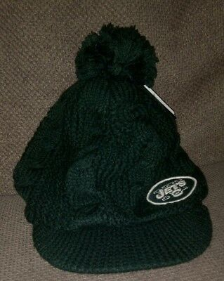 47 Brand NFL New York NY Jets peaked green woolly bobble hat New womens