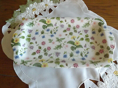 Queens Fine bone china Country Meadow oblong sandwich serving plate tray