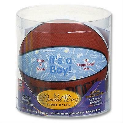 Special Day sports balls ITS A BOY! Basketball (Baby Birth Announcement)