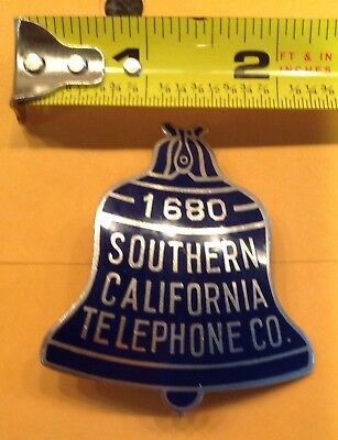 Southern California Telephone Company Badge Good CondiTION