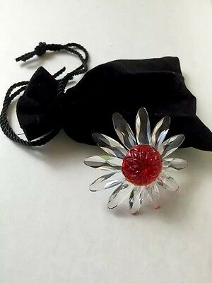 Swarovski Crystal Red Marguerite Daisy Plus Bag Of Miniature Daisies SCS Renewal