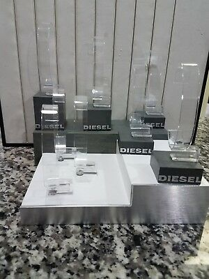 Clear Plastic DIESEL Bangle Cuff Bracelet Watch Display Stand Holder
