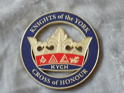 "Masonic 3"" Car Emblem York Rites KYCH Crown Knights Crown Freemasonry Metal NEW!"