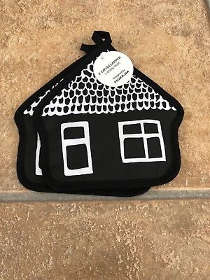 Oven Pot Pan Holder Heat Resistant Cotton Kitchen Cooking Cottage  Mitt Quilted