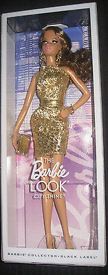 Barbie Collector City Shopper  Barbie Look  Doll City Shine (Gold) Fashion, New