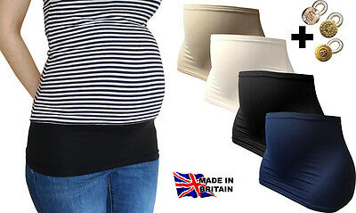 MATERNITY/PREGNANCY BELLY BAND + ONE EXTENDER BUTTON Made in the UK