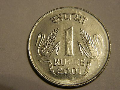 2001 India 1 Rupee Some Doubling--Lot #1,968