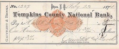 Tompkins County National Bank, Ithaca,  New York  1874