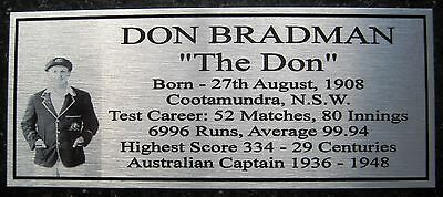 Don Bradman NEW Silver Sublimated Plaque