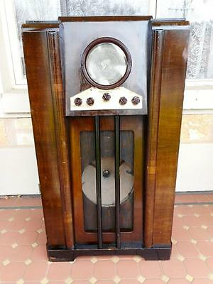 c.1930's Antique Vintage Large Masterpiece World Radio Perfect Working 96cm Tall