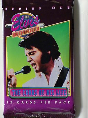 Elvis Series One Sealed Pack Of 12 Trading Cards